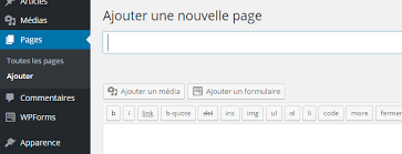 Ajouter une page WordPress