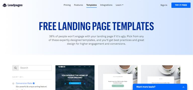 LeadPages, un concurrent de ClickFunnels