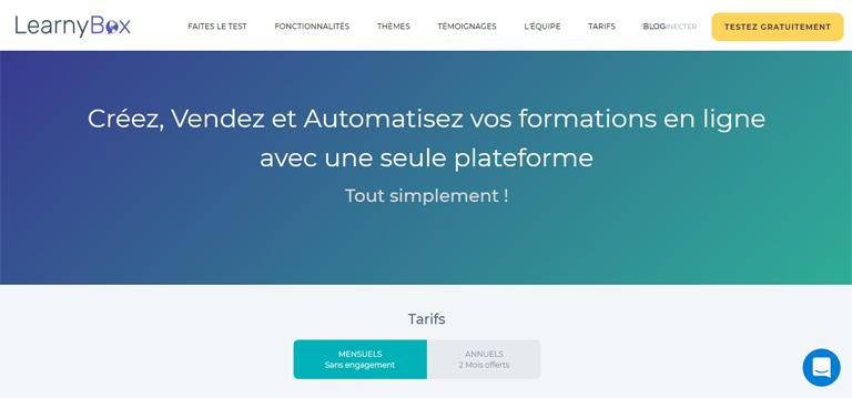 LearnyBox, un concurrent de ClickFunnels