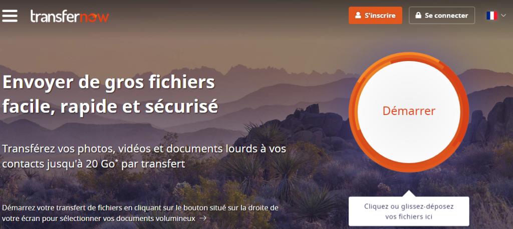 We Transfert Now est un service français de transfert de fichier.