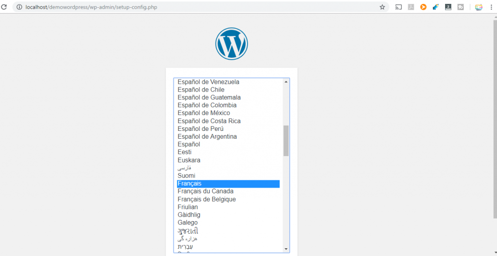 WordPress Langue