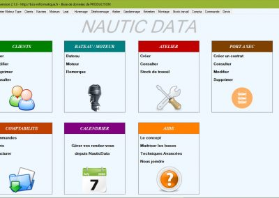 Logiciel Nautic Data, un logiciel de gestion client et d'atelier pour le secteur nautisme