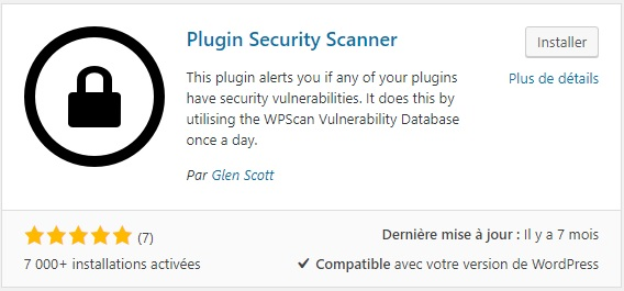 Plugin security scanner