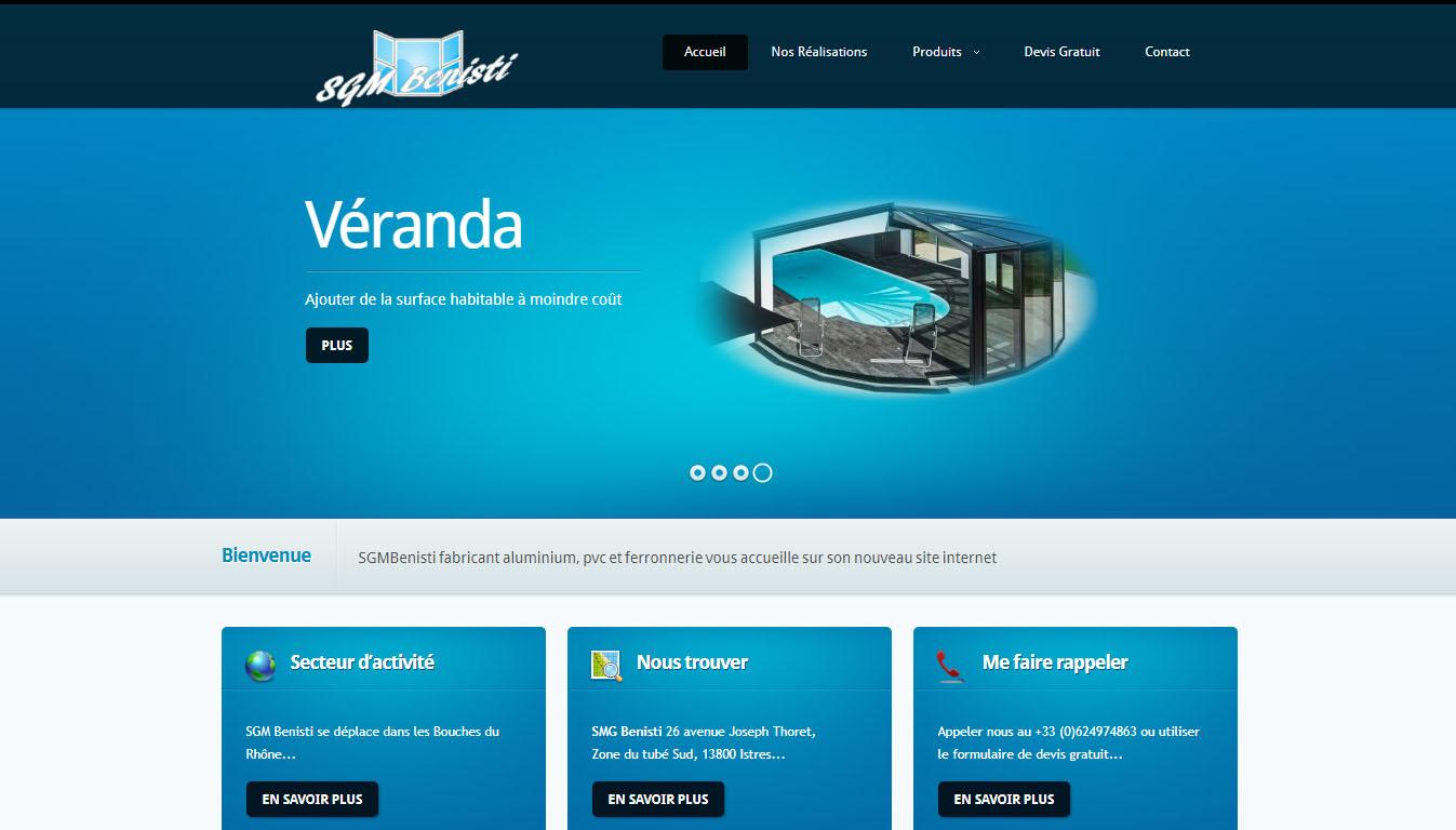 Site internet de fabrication de menuiserie PVC et aluminium