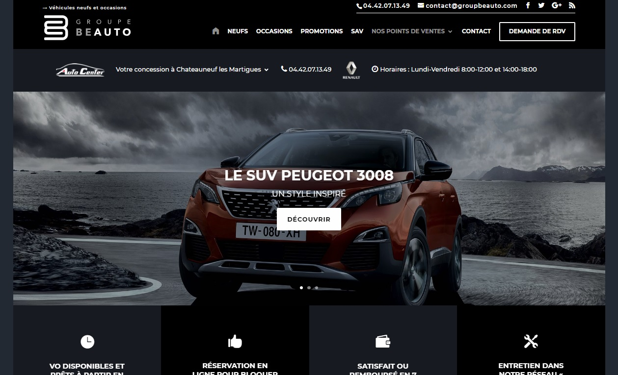 Site de vente de véhicules neufs et occasions.