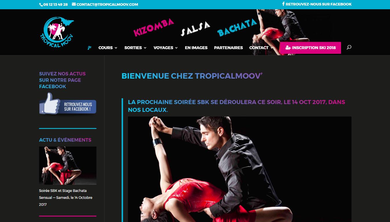 TropicalMoov est une association de danse qui propose l'enseignement de la Salsa, bachata et Kizomba.