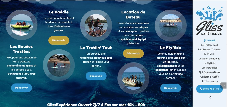 GlissExperience, un site de sports terrestre et nautique