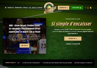 PronoSimple, site de coaching pour paris sportif