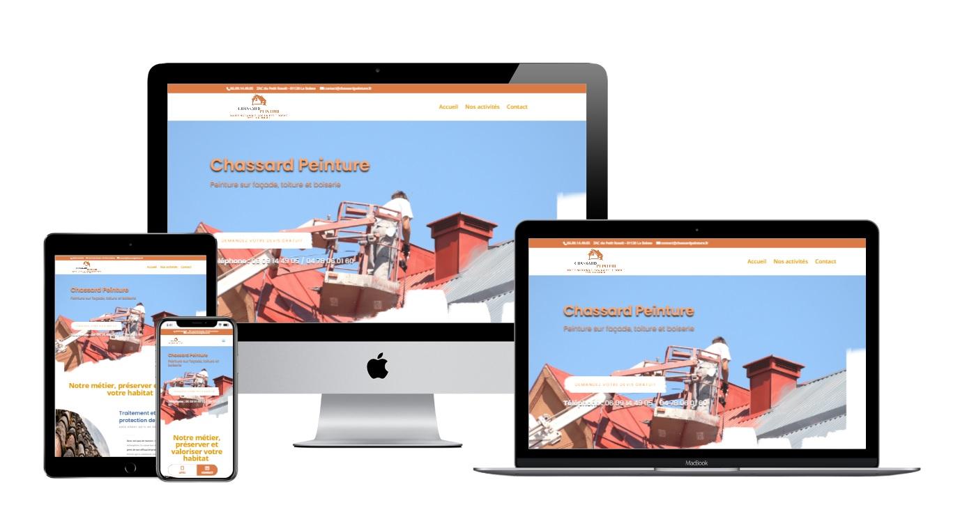 Création site internet pour artisan peintre