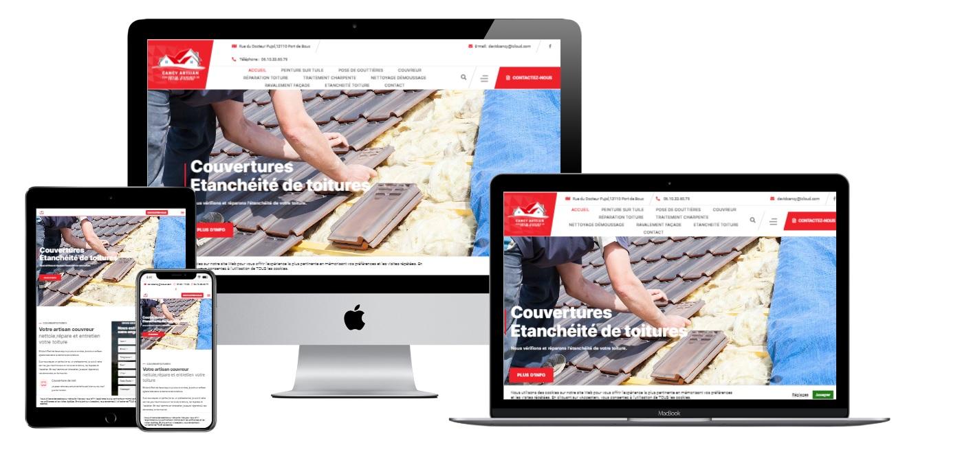 Création site internet pour artisan couvreur toiture